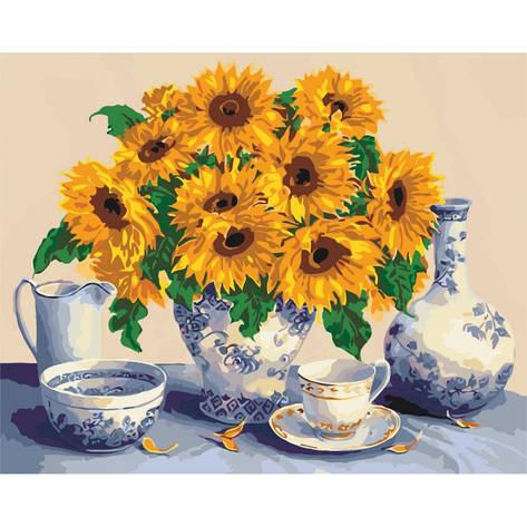 Картина по номерам Букет з соняшників  КНО5519 Идейка 40x50см, фото 2