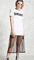 Платье-футболка женское Forever 21 Белое M (44)