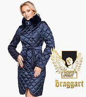 Воздуховик Braggart Angel's Fluff 31030 | Теплая женская куртка синий бархат