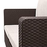 Набір садових меблів Salta 2-Seater Sofa з штучного ротанга ( Allibert by Keter ), фото 6