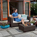 Набір садових меблів Salta 2-Seater Sofa з штучного ротанга ( Allibert by Keter ), фото 9