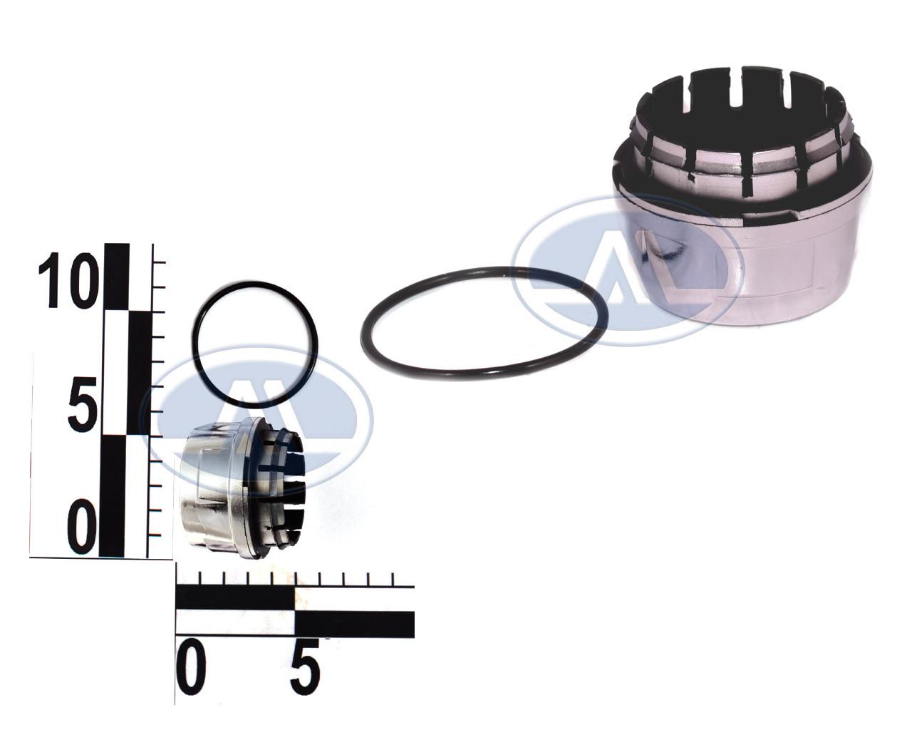 Колпачок ступицы ВАЗ 2108 с уплотнительным кольцом, хром.