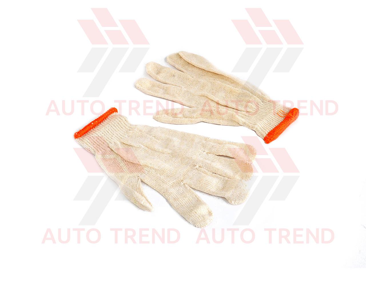 Перчатки рабочие трикотажные без ПВХ точкой размер 10, белые