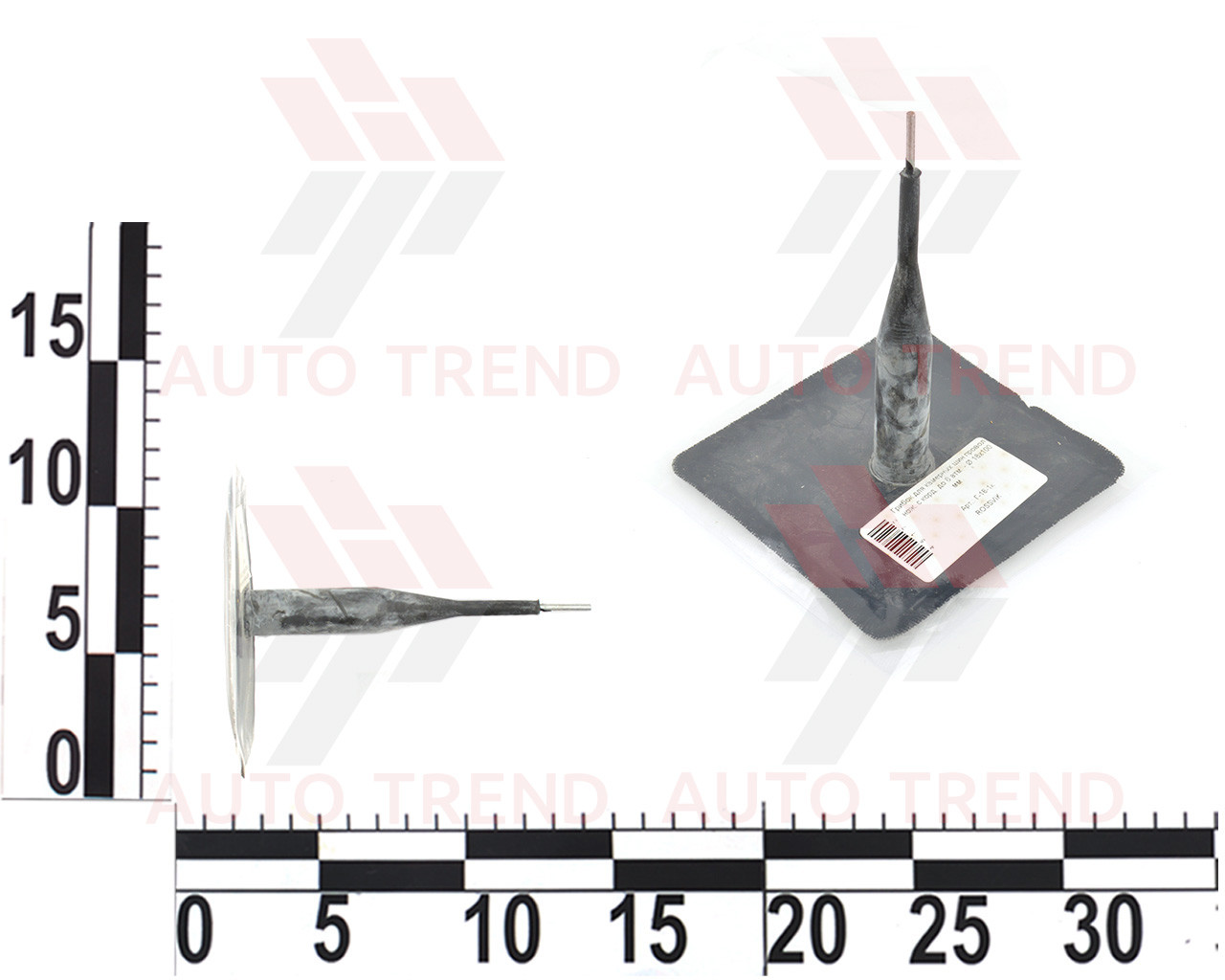Грибок для камерных шин проволочная ножка с кордом до 8 атм d18х100мм (розн)