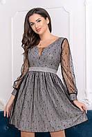 Коктейльное платье 9211 Графитовый