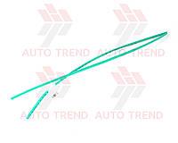 Трубка термоусаживаемая 4мм зелёная 1м
