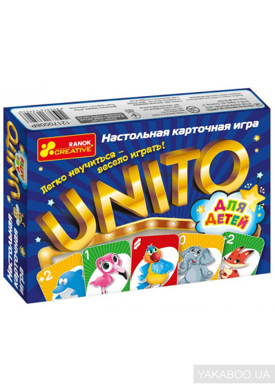 """Настільна гра """"Уніто"""" ZOO (для детей), в кор.17*12*3см., пр."""