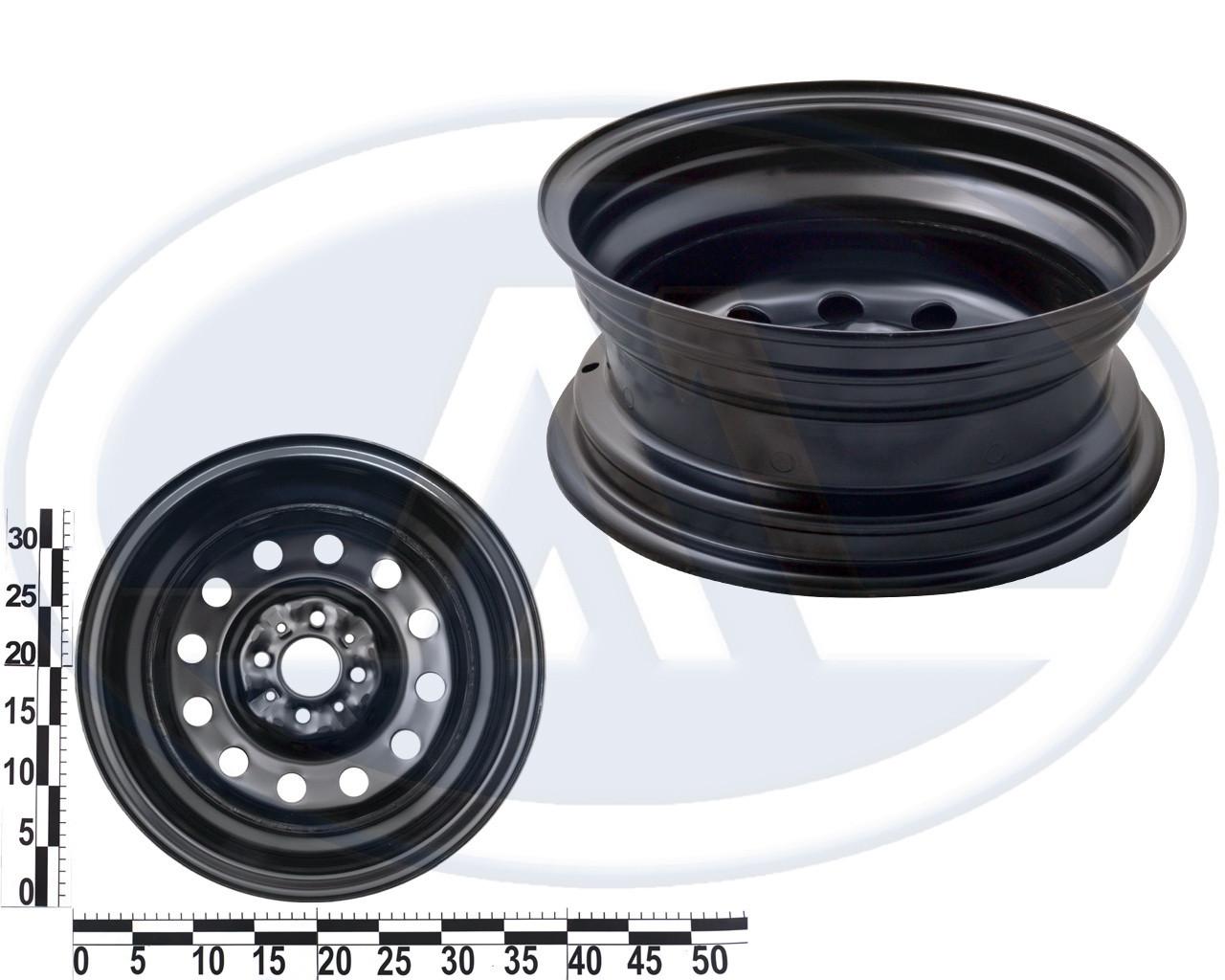 """Диск колеса ВАЗ 2170 14"""", (5 1/2Jx14Н2) черный"""