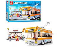Конструктор Троллейбус с остановкой - Sluban M38-B0332 - 465 дет