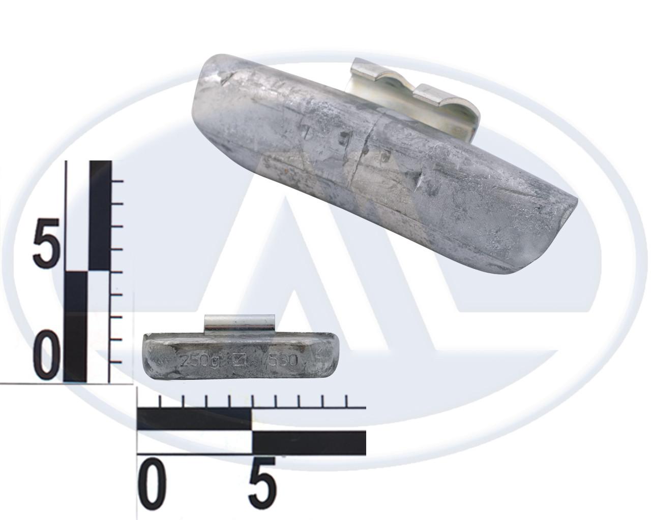 Груз набивной для стальных дисков г/а, свинец 250г, тип 530, Германия