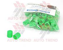 Колпачок на ниппель пластмассовый цветной зелёный (100 шт.) уп.