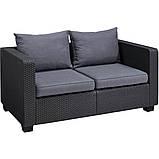Набор садовой мебели Salta 2-Seater Sofa Graphite ( графит ) из искусственного ротанга, фото 3
