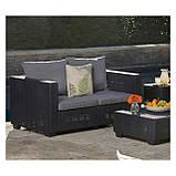 Набор садовой мебели Salta 2-Seater Sofa Graphite ( графит ) из искусственного ротанга, фото 6