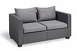 Набор садовой мебели Salta 2-Seater Sofa Graphite ( графит ) из искусственного ротанга, фото 8