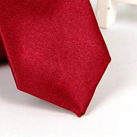 Галстук детский, атласный №1 (бордовый)