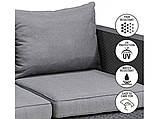 Набор садовой мебели Salta 2-Seater Sofa Graphite ( графит ) из искусственного ротанга, фото 9