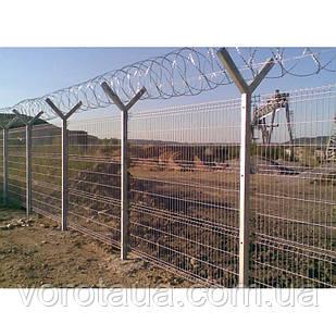 Заборные секции 1,5х2,5м СТАНДАРТ проволока 4+4мм