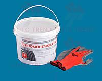 Паста монтажная красная на жировой основе 5л с перчатками в ПОДАРОК