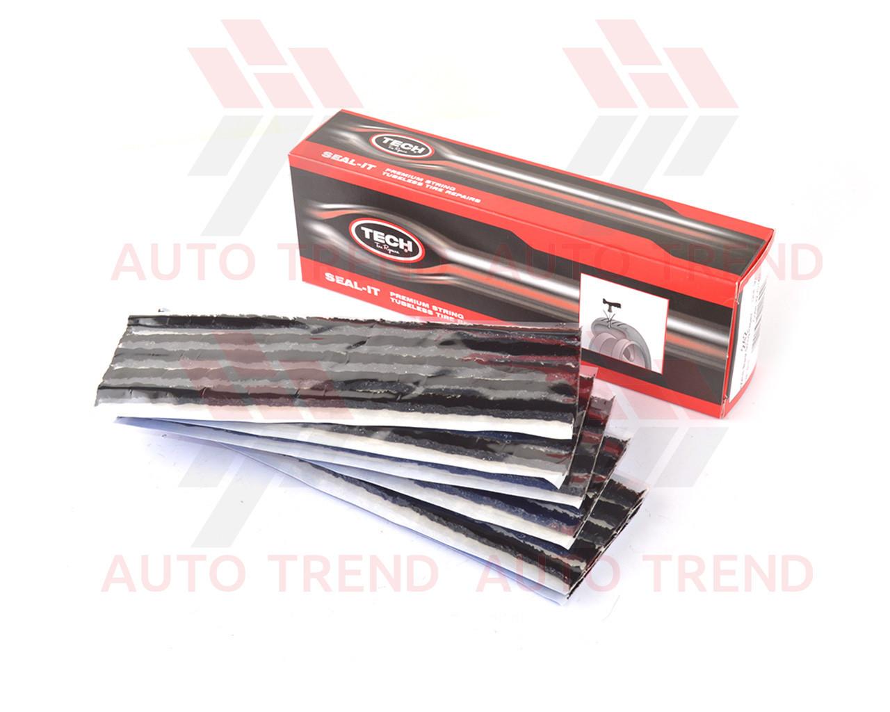 Шнур для ремонта бескамерной шины 200мм черный, 6 пластин по 5 шт = 30 шт.