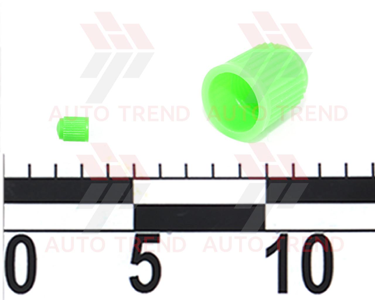 *Колпачок на ниппель пластмассовый цветной зелёный