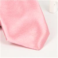 Галстук детский, атласный №6 (бледно-розовый)