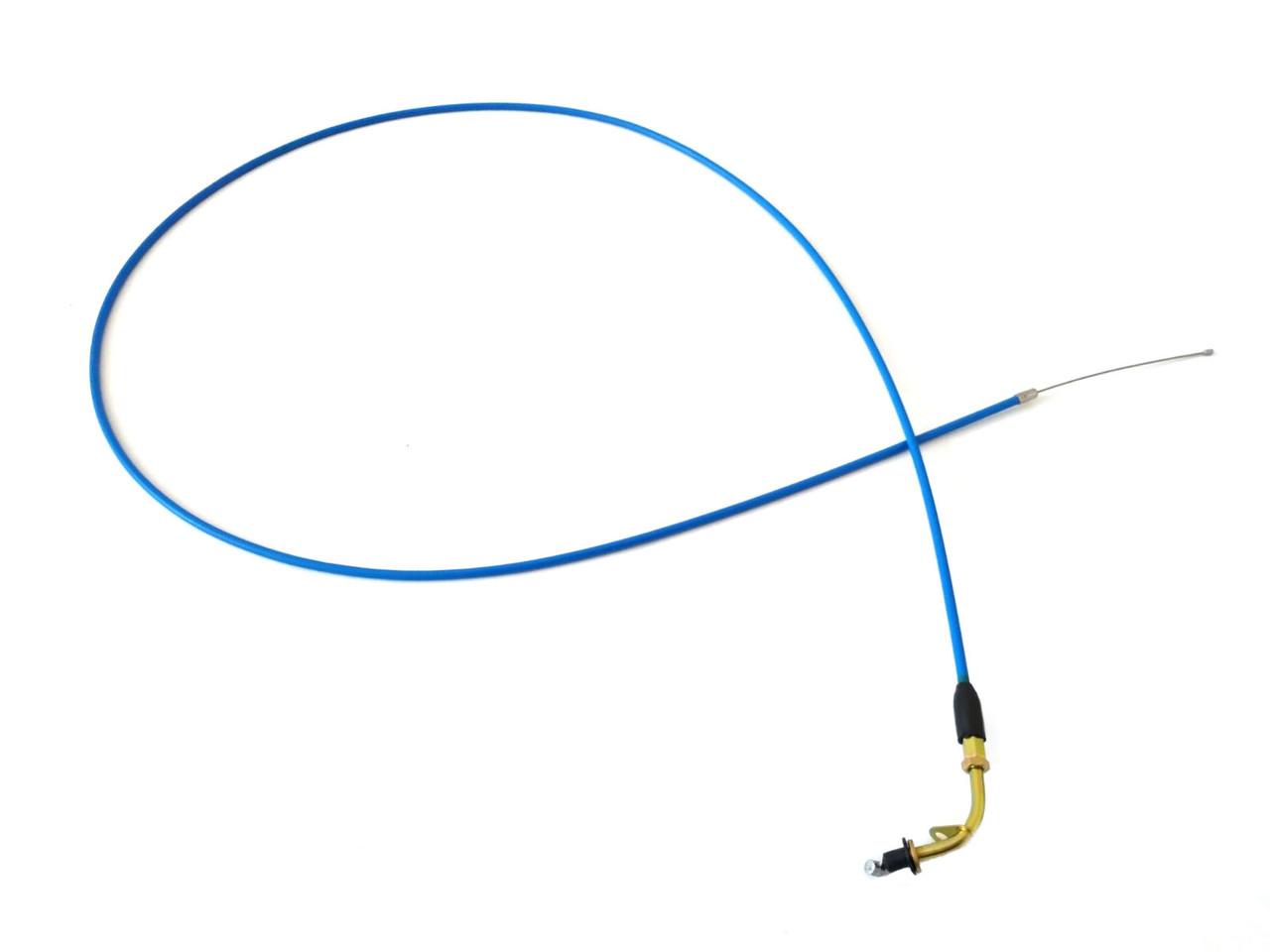 Трос газа YAMAHA JOG 3KJ нержавійка, силікон (класс A, синій)