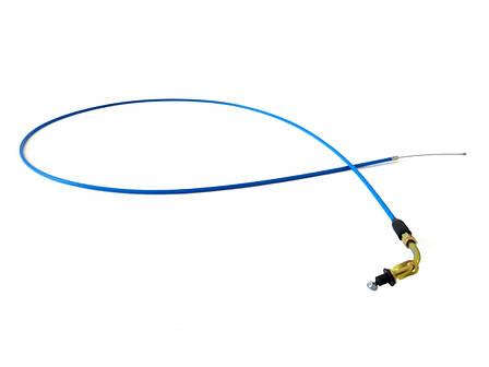 Трос газа YAMAHA JOG 3KJ нержавійка, силікон (класс A, синій), фото 2