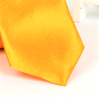 Галстук детский, атласный №8 (ярко-желтый)