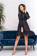 Коктейльное платье 9201 Черный  S M L