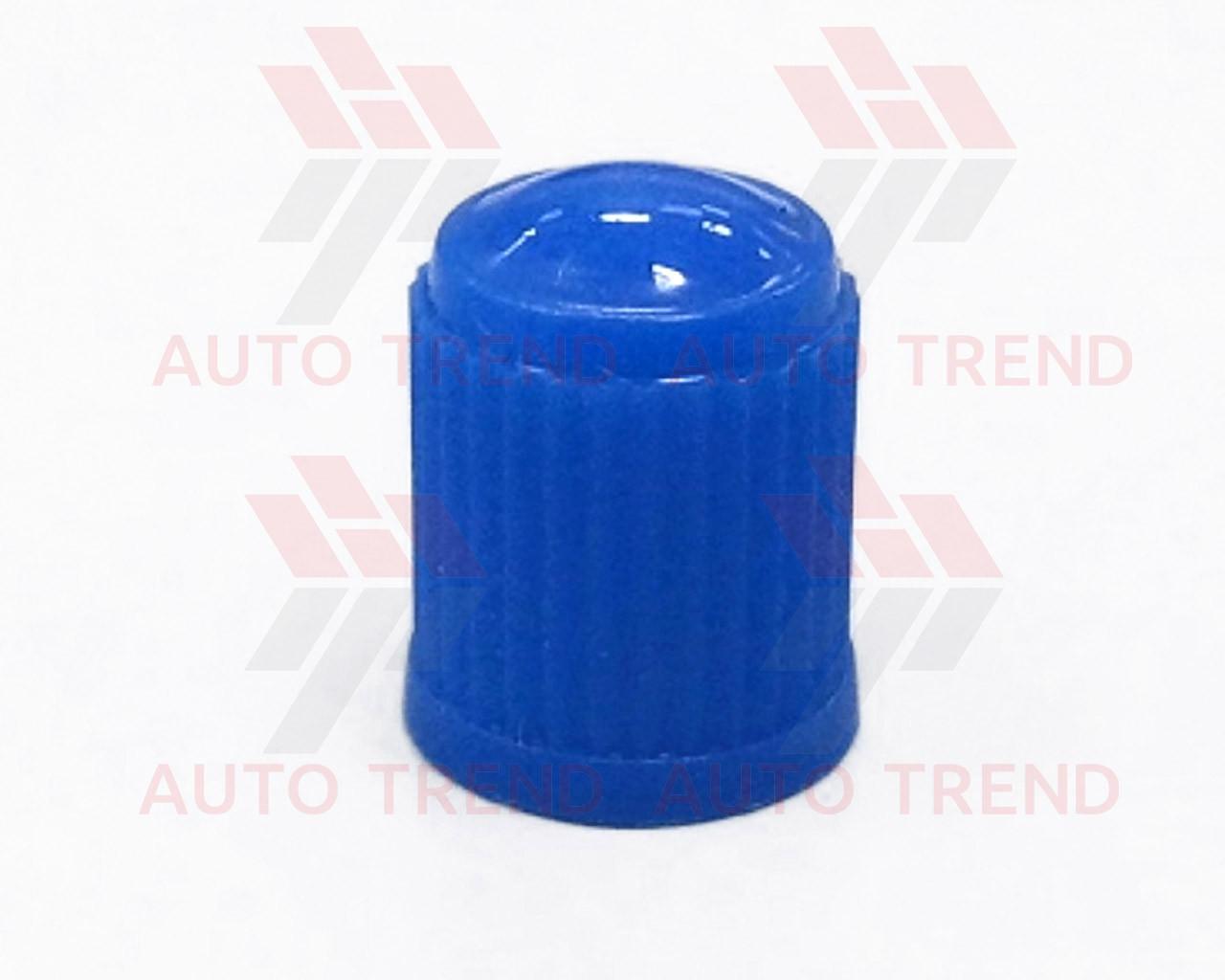 Колпачок на ниппель пластмассовый цветной синий (100 шт.) уп.