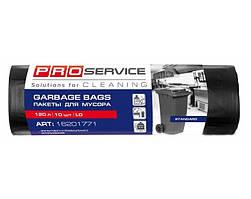 PRO Пакеты для мусора п/э 70*110 черный ЛД 120л/10шт.