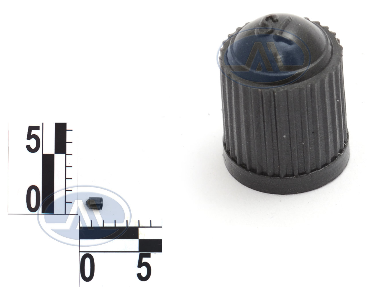 Колпачок на ниппель пластмассовый цветной чёрный