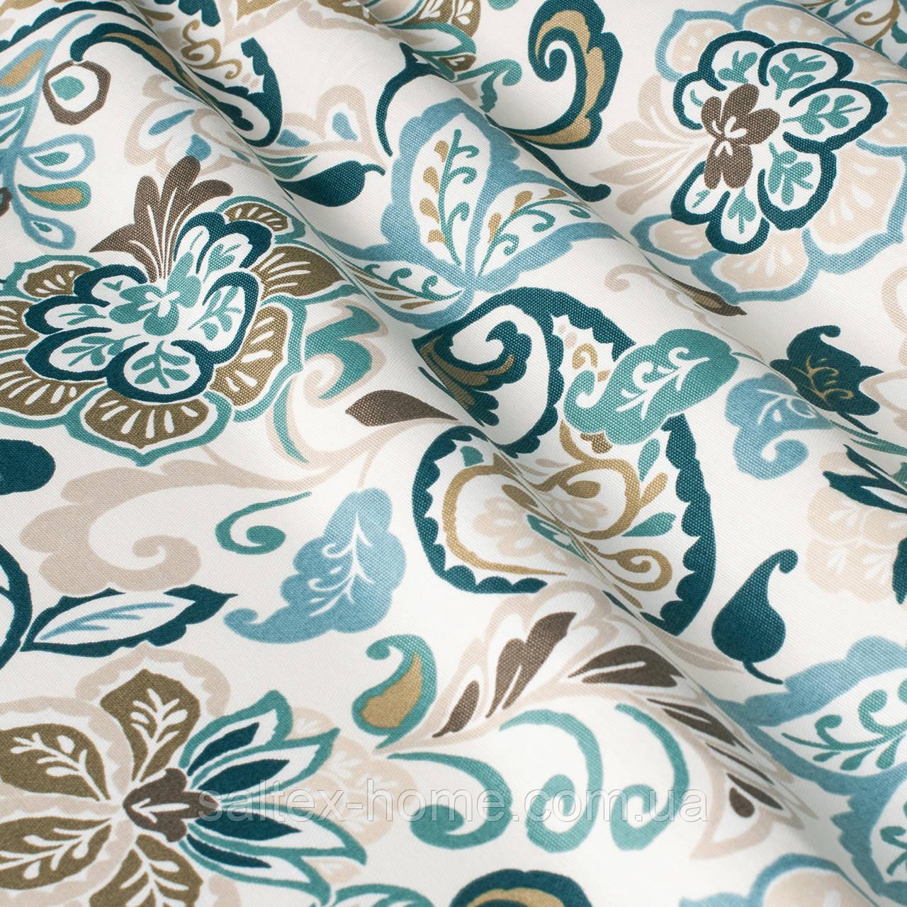 Ткань для римских штор с восточным рисунком