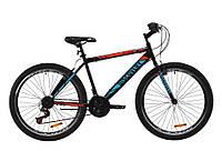 """Велосипед ST 26"""" Discovery ATTACK Vbr рама-18"""" черно-красный с бирюзовым (м) 2020"""