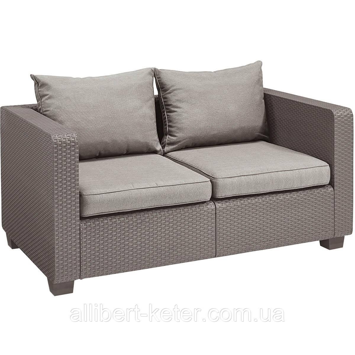 Набор садовой мебели Salta 2-Seater Sofa Cappuccino ( капучино ) из искусственного ротанга