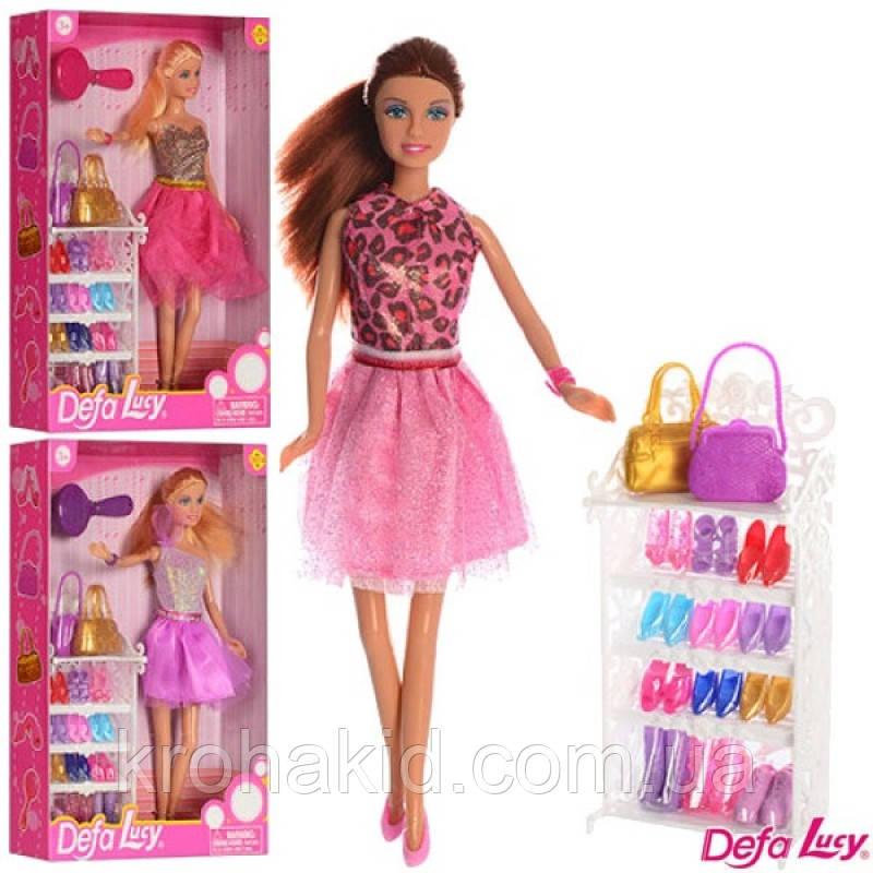Ігровий набір лялька з аксесуарами і взуттям Defa Lucy з набором взуття лялька Defa Lucy 8316
