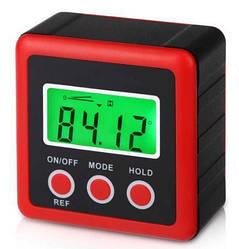 Угломер-уровень инклинометр MHZ 5732, черный с красным
