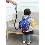 Дитячий рюкзак, блакитний. Динозавр, фото 4