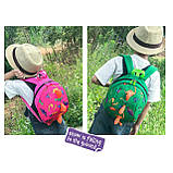 Детский рюкзак, голубой. Динозавр, фото 3