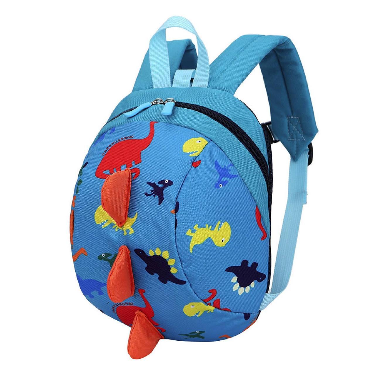 Детский рюкзак, голубой. Динозавр