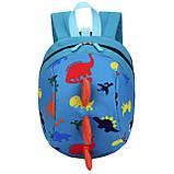 Детский рюкзак, голубой. Динозавр, фото 2
