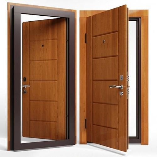 Входные двери ( сталь 2 мм.) МДФ + МДФ 8 мм+Дополнительный контур утепления+Замок Fuaro 4252