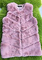 Женский меховой жилет