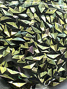 """Объёмный декор для маникюра  """"Чешуя дракона"""",салатово-зеленый ромб, фото 2"""