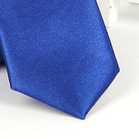 Галстук детский, атласный №17 (ярко-синий, электрик)