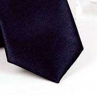 Галстук детский, атласный №19 (сине-черный)