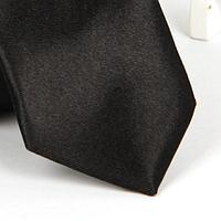 Галстук детский, атласный №30 (черный)