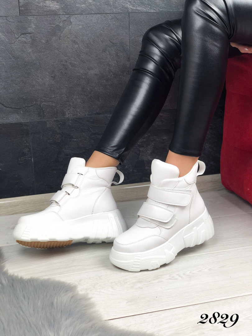 Женские ботинки кроссовки на платформе