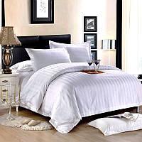 Комплект постельного  Белого белья - Премиум Класса- стильные полоски 3х3 см.