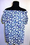 Блуза женская  с цветочным рисунком, 46,48, 50,52, тонкая легкая ,купить , Бл 019-5., фото 4